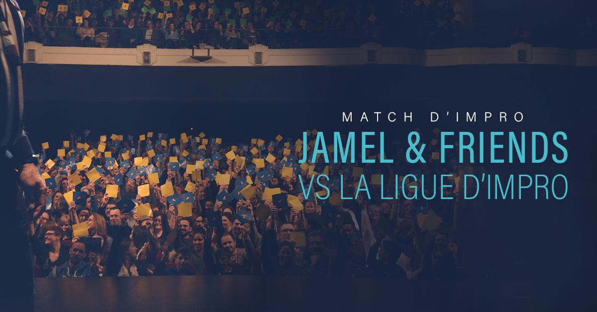 Jamel vs ligue d'impro spectacle cover
