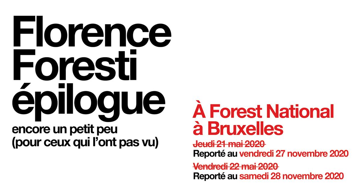 Florence foresti nouveau spectacle epilogue