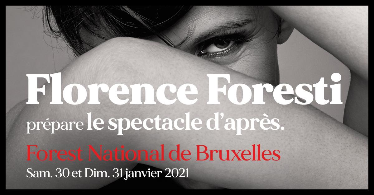 Florence Forest prépare le spectacle d'après à Forest National par Odlive Productions
